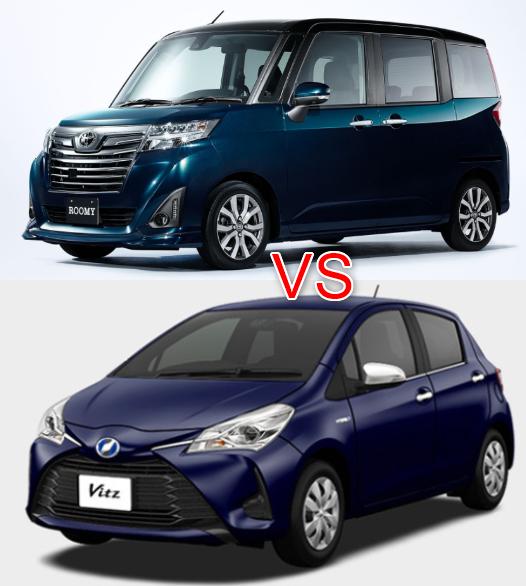 新型ルーミーと新型ヴィッツハイブリッドは両車ともトヨタを代表するコンパクトカーとなっていますが、異なる部分も多いので比較して紹介したいと思います。